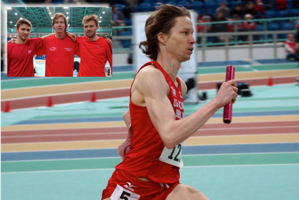 Carsten Schlangen mit LG Nord Berlin Staffel - Deutsche Staffelmeisterschaften Halle in Halle/Saale