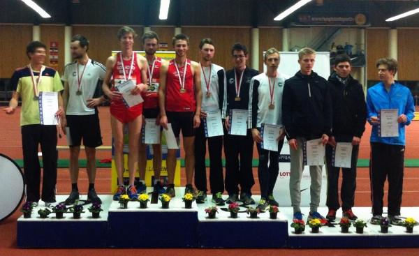 Berlin-Brandenburgische-Meisterschaften 3x1000m. Carsten führt die Staffel zum Sieg.