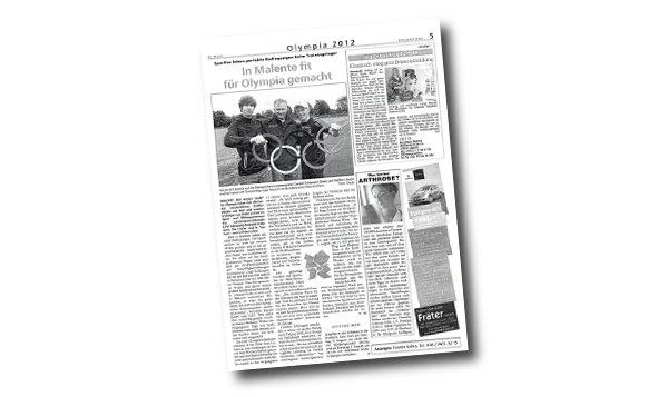 Der Wochenspiegel - In Malente fit für Olympia gemacht