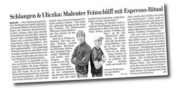 Lübecker Nachrichten - Schlangen & Uliczka: Malenter Feinschliff mit Espresso-Ritual