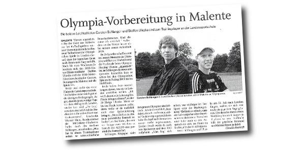 Ostholsteiner Anzeiger - Olympia-Vorbereitung in Malente